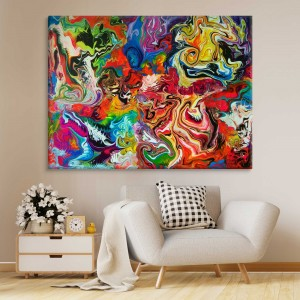 Abstract Colourful Fluid Painting