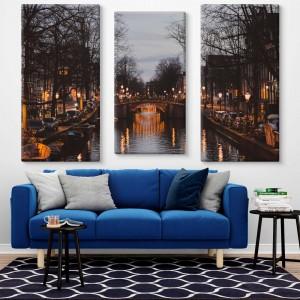 Amsterdam Mehrteilige Leinwand