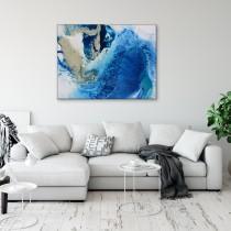 Zilais abstrakts