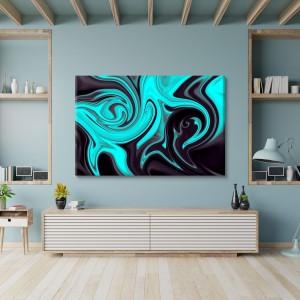 Blue liquid abstraction