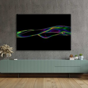Wavy neon abstract