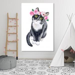 Katt med en krona