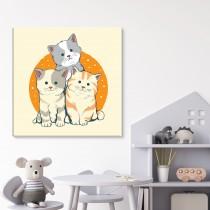 Trīs kaķēni