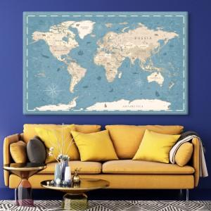 Weltkarte von der alten Zeiten
