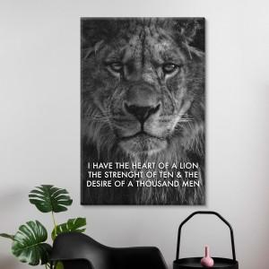 Hjärta Av Ett Lejon