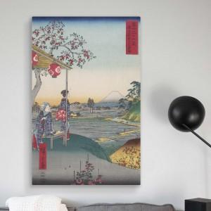 Хиросигэ - Чайхана с видом на гору. Фудзи в Дзосигая