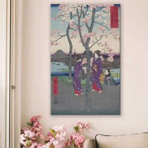 Hiroshige - Der Sumida-Damm in der östlichen Hauptstadt