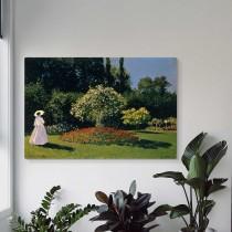 Klods Monē - Sieviete Dārzā