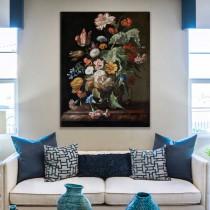 Рашель Рюйш - Натюрморт с цветами