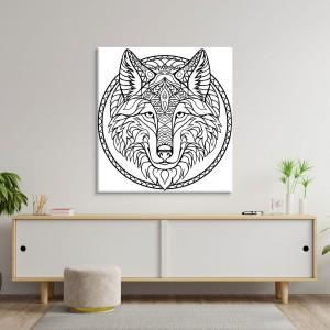 Wolf färben