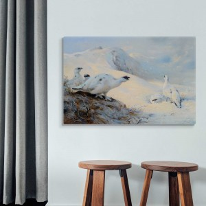Archibald Thorburn - Ptarmigan Calling in the Snow